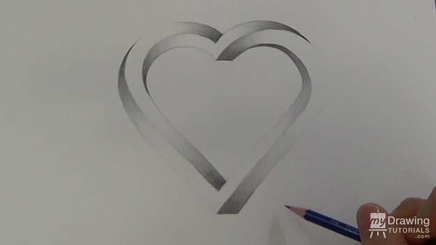 Cool Drawing Tutorials - How To Draw a 3D Heart Illustrations - Learn How To Draw Animals, Easy People, Step by Step Drawing and Tutorial With Instructions - Creative Arts and Crafts Ideas for Teens - Shapes, Shading, Buildings, School Art Projects, Drawing for Beginners and Teenagers, Kids http://diyprojectsforteens.com/cool-drawing-tutorials