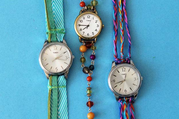 DIY Bracelets - Watch Wrap Bracelets - Cool Jewelry Making Tutorials for Making Bracelets at Home - Handmade Bracelet Crafts and Easy DIY Gift for Teens, Girls and Women - With String, Wire, Leather, Beaded, Bangle, Braided, Boho, Modern and Friendship - Cheap and Quick Homemade Jewelry Ideas