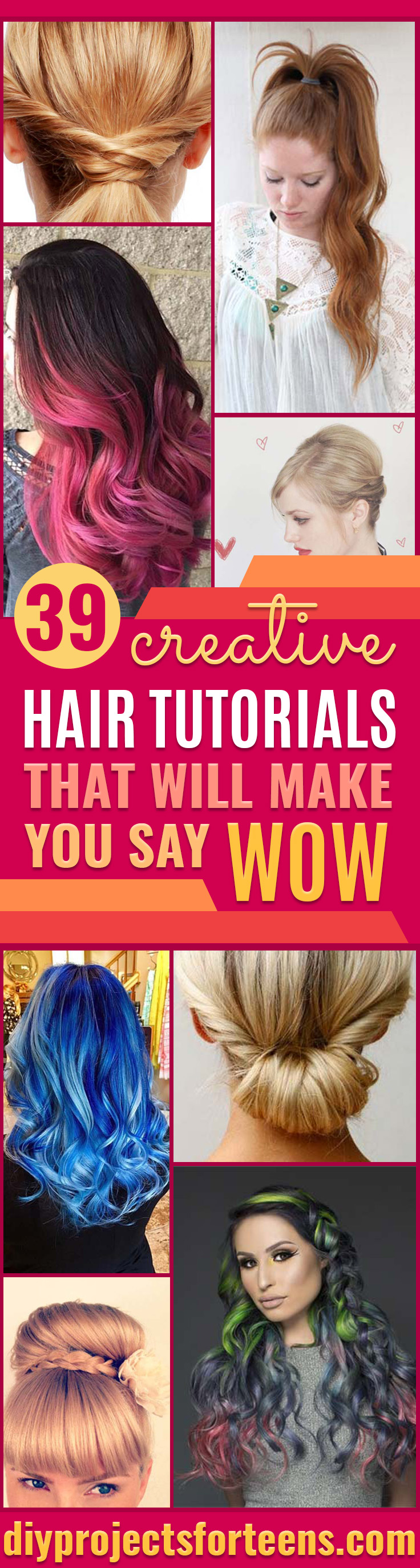 Easy Hair Styling Tutorials - Cool Hair Styles Step By Step - Ideas for Hair Color, Rainbow, Galaxy and Unique Styles for Long, Short and Medium Hair - Braids, Dyes, Instructions for Teens and Women #hairstyles #hairideas #beauty #teens #easyhairstyles