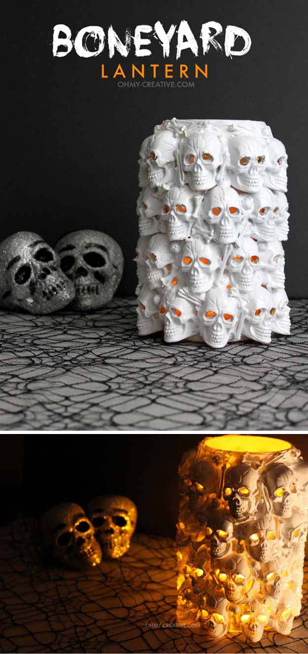 DIY Room Decor Ideas for Boys - - Boneyard Lartern - Teen Bedroom Decor Idea for Boy - Wall Art, Lighting, Lamps, Shelves, Bedding, Curtains and Rugs for Boy Rooms - Easy Step by Step Tutorials and Projects for Decorating Teens and Tweens Rooms http://diyprojectsforteens.com/diy-room-decor-boys