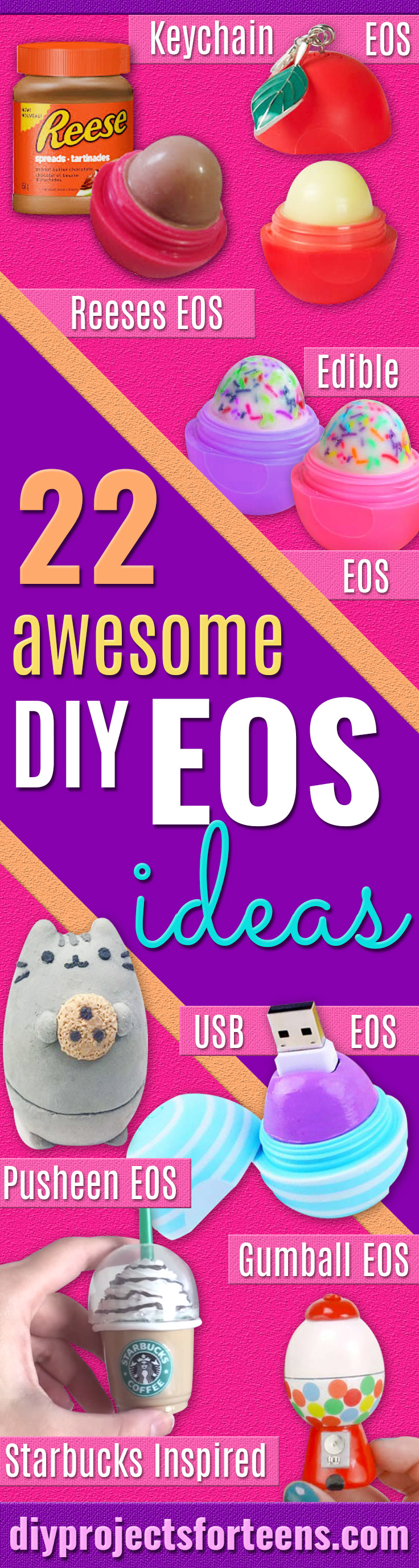 22 Most Awesome DIY EOS ideas - Best DIY EOS Projects - DIY Secret Eos Lip Balm Container - Turn Old EOS Containers Into Cool Crafts Ideas Like Lip Balm, Galaxy, Gumball Machine, and Watermelon - Fun, Cheap and Easy DIY Projects Tutorials and Videos for Teens, Tweens, Kids and Adults http://diyprojectsforteens.com/diy-eos-projects