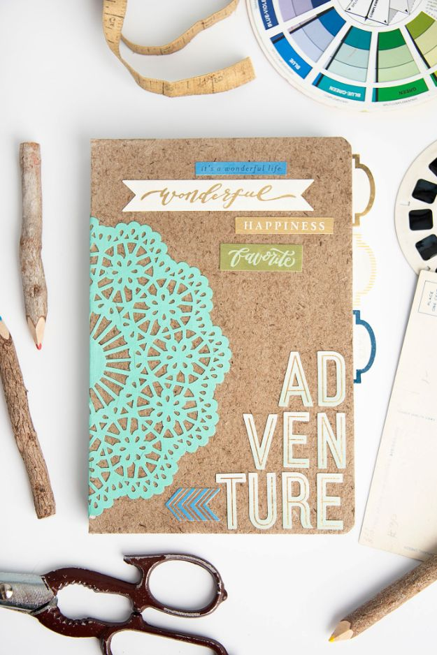 Best DIY Ideas for Teens To Make This Summer - Adventure Themed DIY Notebook - Fun and Easy Crafts, Room Decor, Toys and Craft Projects to Make And Sell - Cool Gifts for Friends, Awesome Things To Do When You Are Bored - Teenagers - Boys and Girls Love Making These Creative Projects With Step by Step Tutorials and Instructions #diyideas #summer #teencrafts #crafts