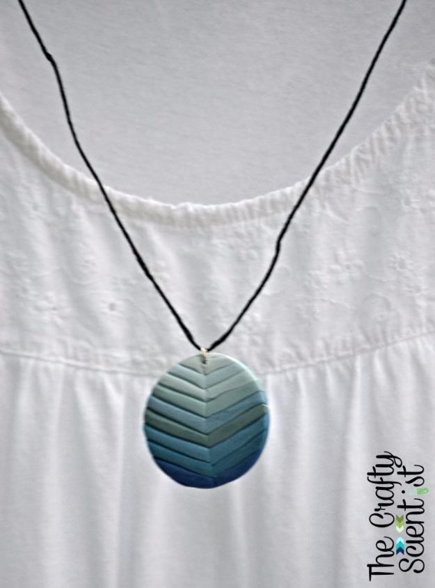 Best DIY Ideas for Teens To Make This Summer - Chevron Ombre Clay Pendants - Fun and Easy Crafts, Room Decor, Toys and Craft Projects to Make And Sell - Cool Gifts for Friends, Awesome Things To Do When You Are Bored - Teenagers - Boys and Girls Love Making These Creative Projects With Step by Step Tutorials and Instructions #diyideas #summer #teencrafts #crafts