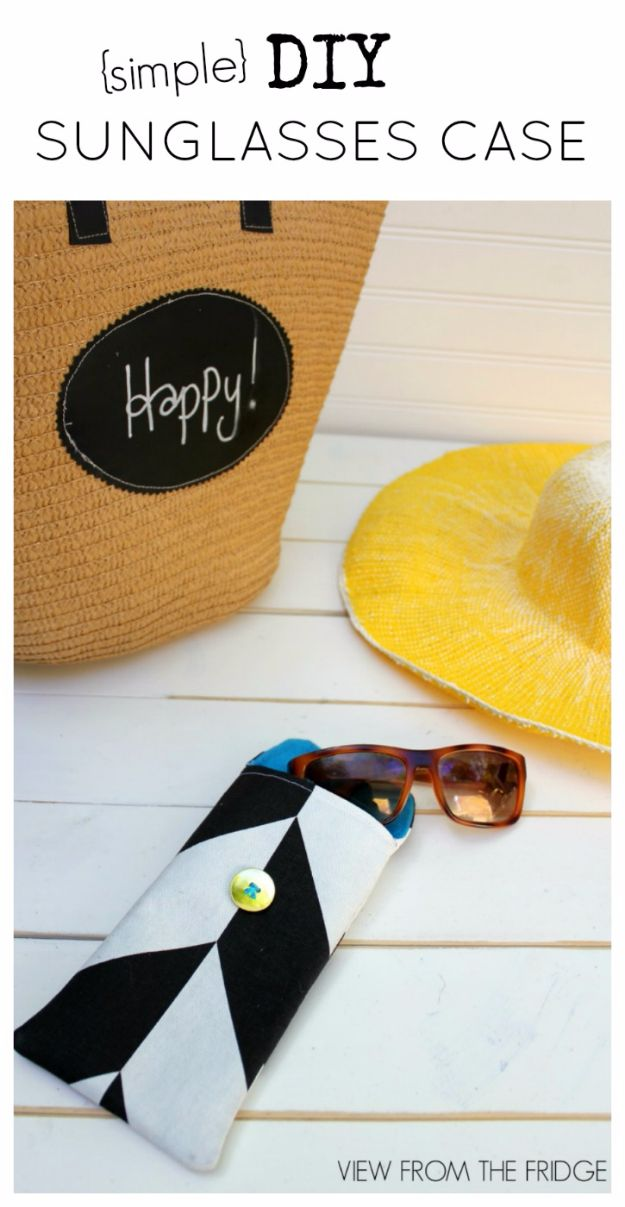 Best DIY Ideas for Teens To Make This Summer - DIY Basic Sunglass Case - Fun and Easy Crafts, Room Decor, Toys and Craft Projects to Make And Sell - Cool Gifts for Friends, Awesome Things To Do When You Are Bored - Teenagers - Boys and Girls Love Making These Creative Projects With Step by Step Tutorials and Instructions #diyideas #summer #teencrafts #crafts