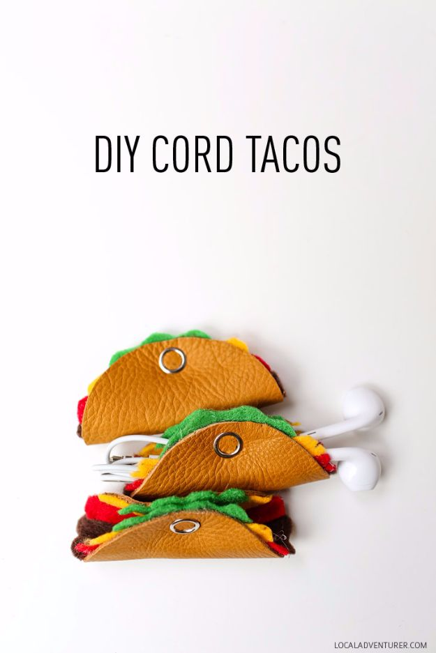 Easy Crafts for Teens - DIY Cord Tacos - Cheap and Easy DIY Projects for Teenagers - Learn Basic Craft Techniques and Tutorials for Learning The Basics for Do It Yourself Projects and Fun Crafts - Easy Step by Step Tutorials for Making Pom Poms, Using a Glue Gun, Painting How To and More - Cool Ideas for Teens, Teenagers and Adults - Cheap Arts and Crafts Ideas and Tips http://diyprojectsforteens.com/diy-skills-tutorials
