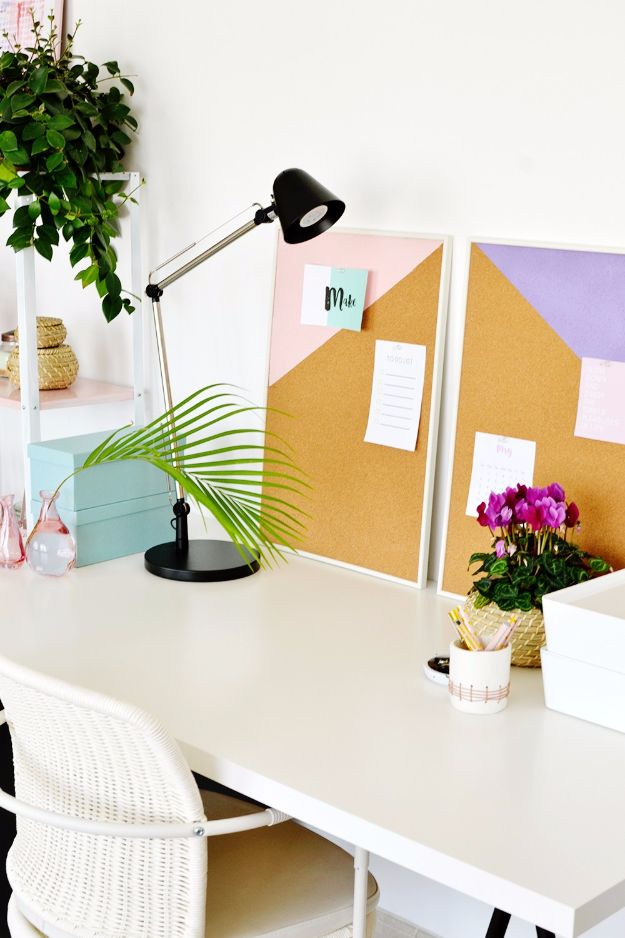 Best DIY Room Decor Ideas for Teens and Teenagers - DIY Geometric Pinboards - Best Cool Crafts, Bedroom Accessories, Lighting, Wall Art, Creative Arts and Crafts Projects, Rugs, Pillows, Curtains, Lamps and Lights - Easy and Cheap Do It Yourself Ideas for Teen Bedrooms and Play Rooms http://diyprojectsforteens.com/diy-room-decor-ideas-teens