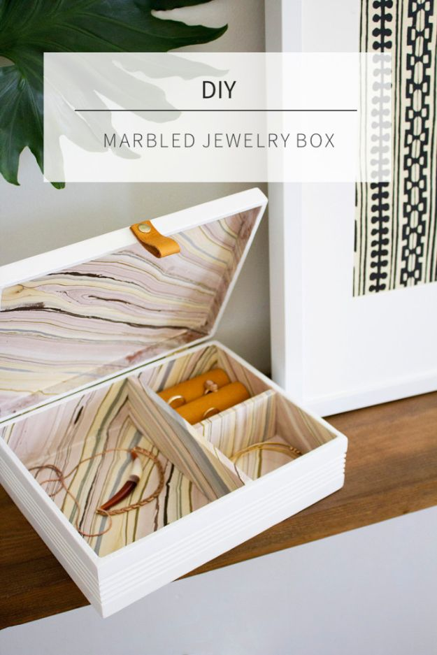 DIY Jewelry Storage - DIY Jewelry Cigar Box - Do It Yourself Crafts and Projects for Organizing, Storing and Displaying Jewelry - Earrings, Rings, Necklaces - Jewelry Tree, Boxes, Hangers - Cheap and Easy Ways To Organize Jewelry in Bedroom and Bathroom - Dollar Store Crafts and Cheap Ideas for Decorating