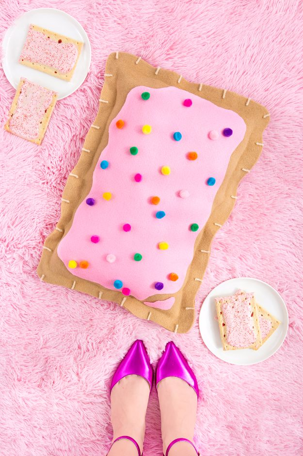 Best DIY Ideas for Teens To Make This Summer - DIY No-Sew Pop Tart Pillow - Fun and Easy Crafts, Room Decor, Toys and Craft Projects to Make And Sell - Cool Gifts for Friends, Awesome Things To Do When You Are Bored - Teenagers - Boys and Girls Love Making These Creative Projects With Step by Step Tutorials and Instructions http://diyprojectsforteens.com/best-ideas-teens-summer
