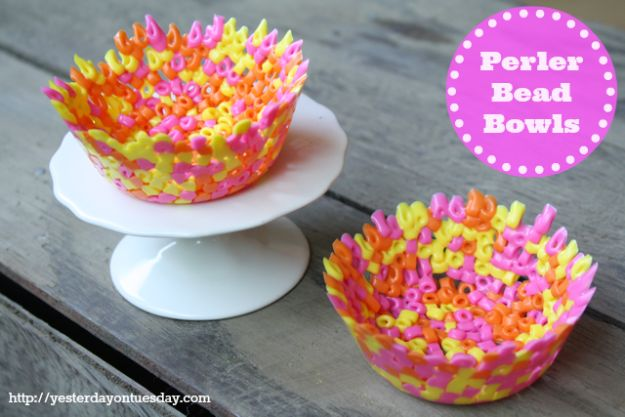Best DIY Ideas for Teens To Make This Summer - DIY Perler Bead Bowls - Fun and Easy Crafts, Room Decor, Toys and Craft Projects to Make And Sell - Cool Gifts for Friends, Awesome Things To Do When You Are Bored - Teenagers - Boys and Girls Love Making These Creative Projects With Step by Step Tutorials and Instructions #diyideas #summer #teencrafts #crafts