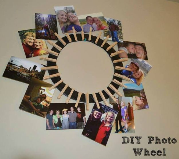 Best DIY Ideas for Teens To Make This Summer - DIY Photo Wheel - Fun and Easy Crafts, Room Decor, Toys and Craft Projects to Make And Sell - Cool Gifts for Friends, Awesome Things To Do When You Are Bored - Teenagers - Boys and Girls Love Making These Creative Projects With Step by Step Tutorials and Instructions #diyideas #summer #teencrafts #crafts