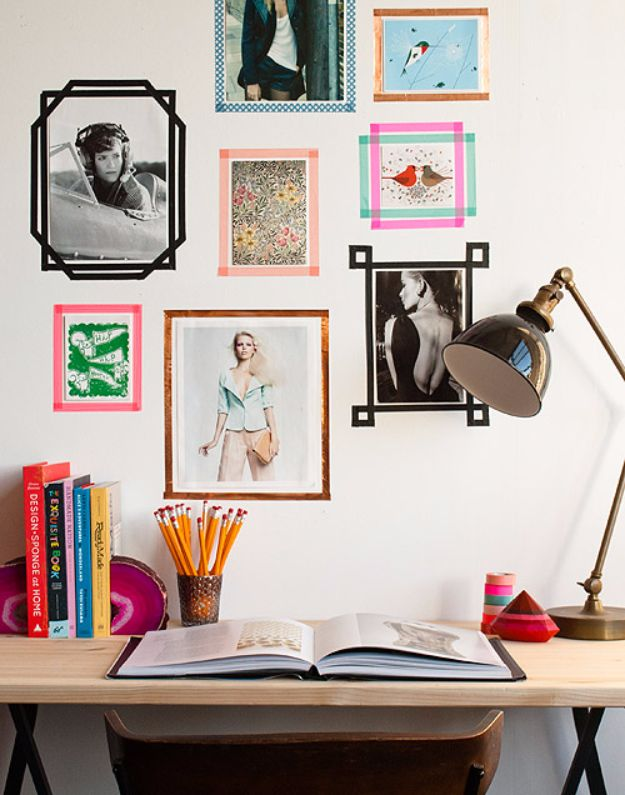 Best Diy Room Decor Ideas For S And Agers Tape Picture Frames