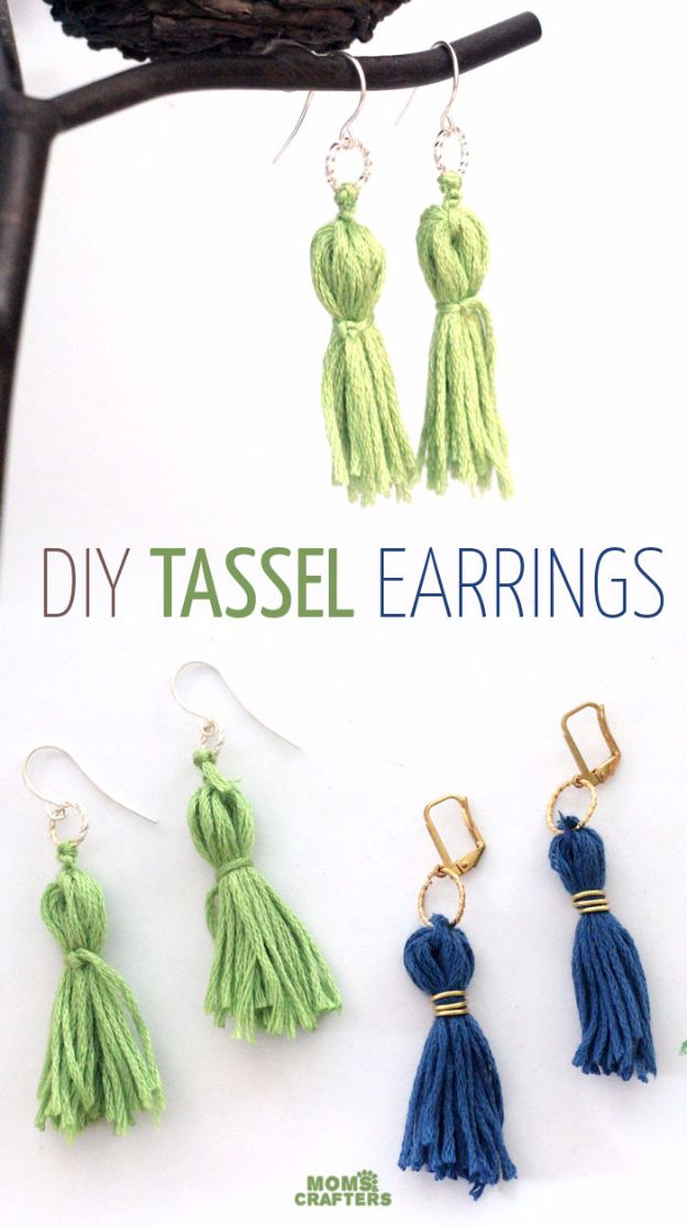 Best DIY Ideas for Teens To Make This Summer - DIY Tassel Earrings - Fun and Easy Crafts, Room Decor, Toys and Craft Projects to Make And Sell - Cool Gifts for Friends, Awesome Things To Do When You Are Bored - Teenagers - Boys and Girls Love Making These Creative Projects With Step by Step Tutorials and Instructions #diyideas #summer #teencrafts #crafts