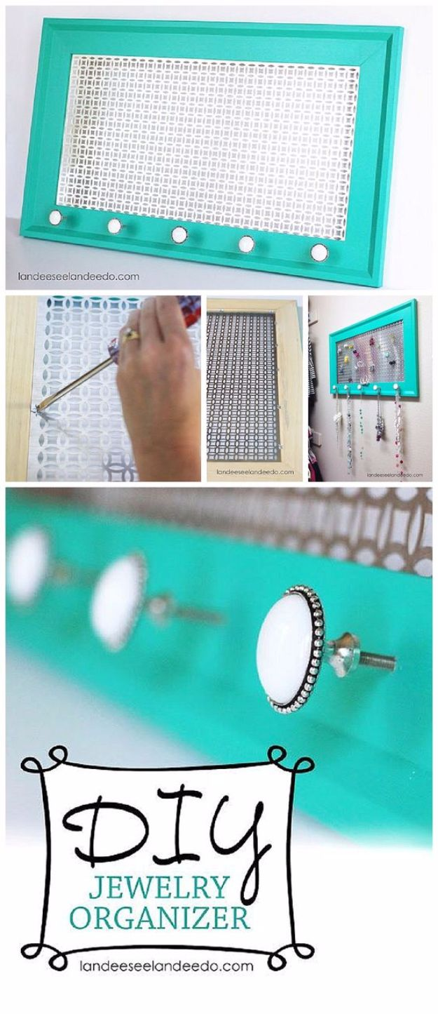 DIY Jewelry Storage - Decorative Metal Sheets Jewelry Holder - Do It Yourself Crafts and Projects for Organizing, Storing and Displaying Jewelry - Earrings, Rings, Necklaces - Jewelry Tree, Boxes, Hangers - Cheap and Easy Ways To Organize Jewelry in Bedroom and Bathroom - Dollar Store Crafts and Cheap Ideas for Decorating
