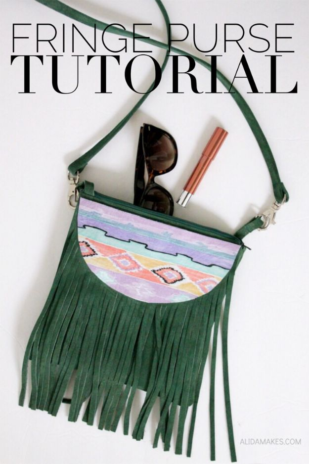 Easy Crafts for Teens - Fringe Purse DIY - Cheap and Easy DIY Projects for Teenagers - Learn Basic Craft Techniques and Tutorials for Learning The Basics for Do It Yourself Projects and Fun Crafts - Easy Step by Step Tutorials for Making Pom Poms, Using a Glue Gun, Painting How To and More - Cool Ideas for Teens, Teenagers and Adults - Cheap Arts and Crafts Ideas and Tips