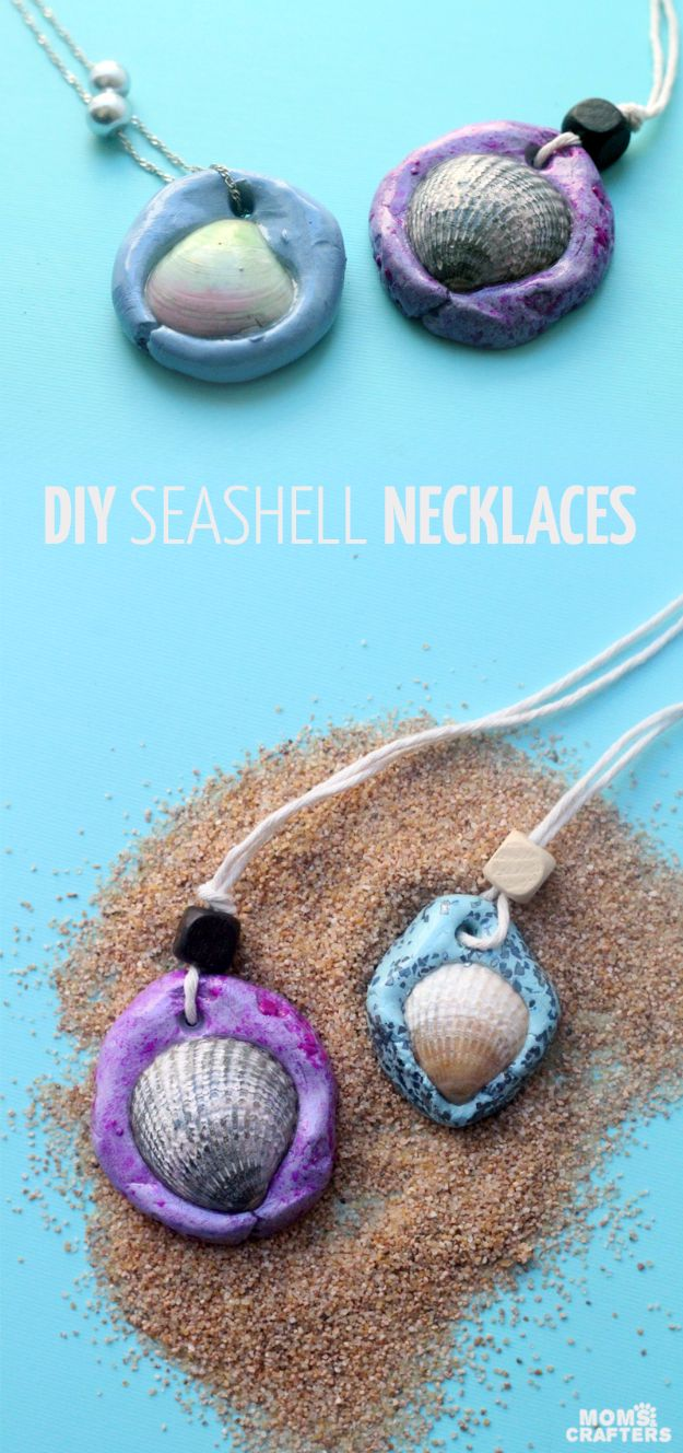 Best DIY Ideas for Teens To Make This Summer - Fun Seashell Necklace - Fun and Easy Crafts, Room Decor, Toys and Craft Projects to Make And Sell - Cool Gifts for Friends, Awesome Things To Do When You Are Bored - Teenagers - Boys and Girls Love Making These Creative Projects With Step by Step Tutorials and Instructions #diyideas #summer #teencrafts #crafts