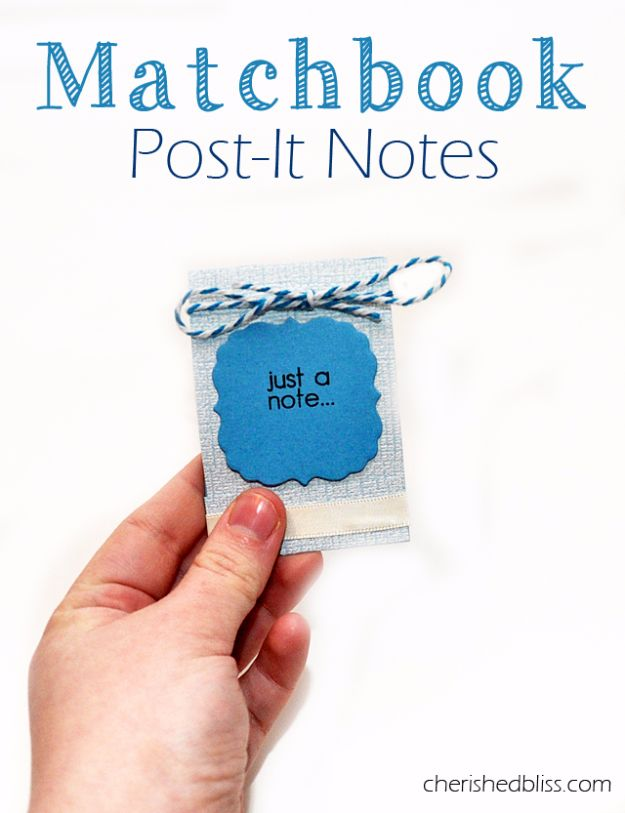 Best DIY Ideas for Teens To Make This Summer - Matchbook Post It Note Holder - Fun and Easy Crafts, Room Decor, Toys and Craft Projects to Make And Sell - Cool Gifts for Friends, Awesome Things To Do When You Are Bored - Teenagers - Boys and Girls Love Making These Creative Projects With Step by Step Tutorials and Instructions #diyideas #summer #teencrafts #crafts