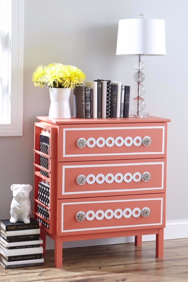 Best DIY Room Decor Ideas for Teens and Teenagers - Silver Washers Nightstand - Best Cool Crafts, Bedroom Accessories, Lighting, Wall Art, Creative Arts and Crafts Projects, Rugs, Pillows, Curtains, Lamps and Lights - Easy and Cheap Do It Yourself Ideas for Teen Bedrooms and Play Rooms #teencrafts #diydecor #roomideas #teenrooms #teendecor #diyideas