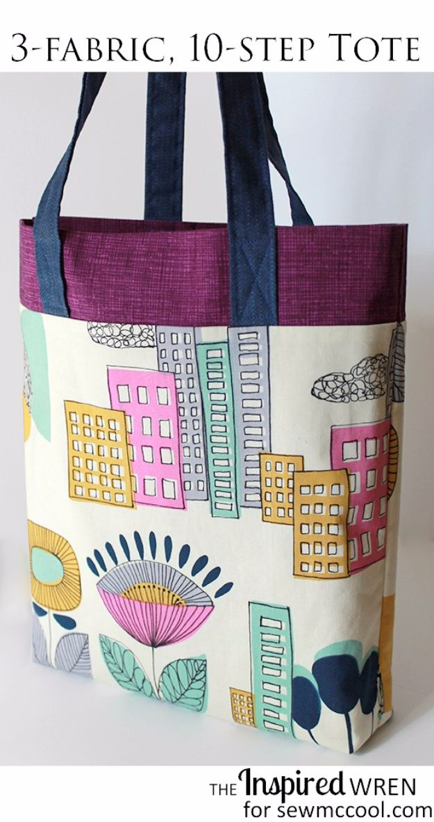 DIY Bags for Summer - 3 Fabric Tote - Easy Ideas to Make for Beach and Pool - Quick Projects for a Bag on A Budget - Cute No Sew Idea, Quick Sewing Patterns - Paint and Crafts for Making Creative Beach Bags - Fun Tutorials for Kids, Teens, Teenagers, Girls and Adults