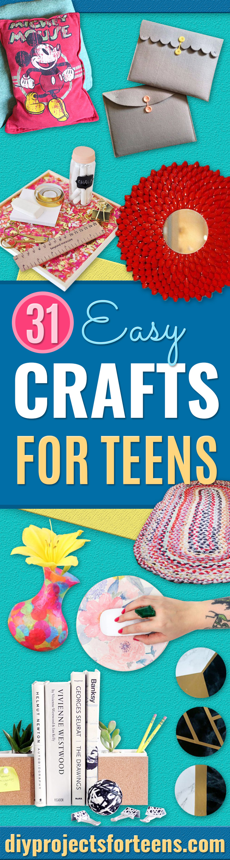 Easy Crafts for Teens - Cheap and Easy DIY Projects for Teenagers - Learn Basic Craft Techniques and Tutorials for Learning The Basics for Do It Yourself Projects and Fun Crafts - Easy Step by Step Tutorials for Making Pom Poms, Using a Glue Gun, Painting How To and More - Cool Ideas for Teens, Teenagers and Adults - Cheap Arts and Crafts Ideas and Tips