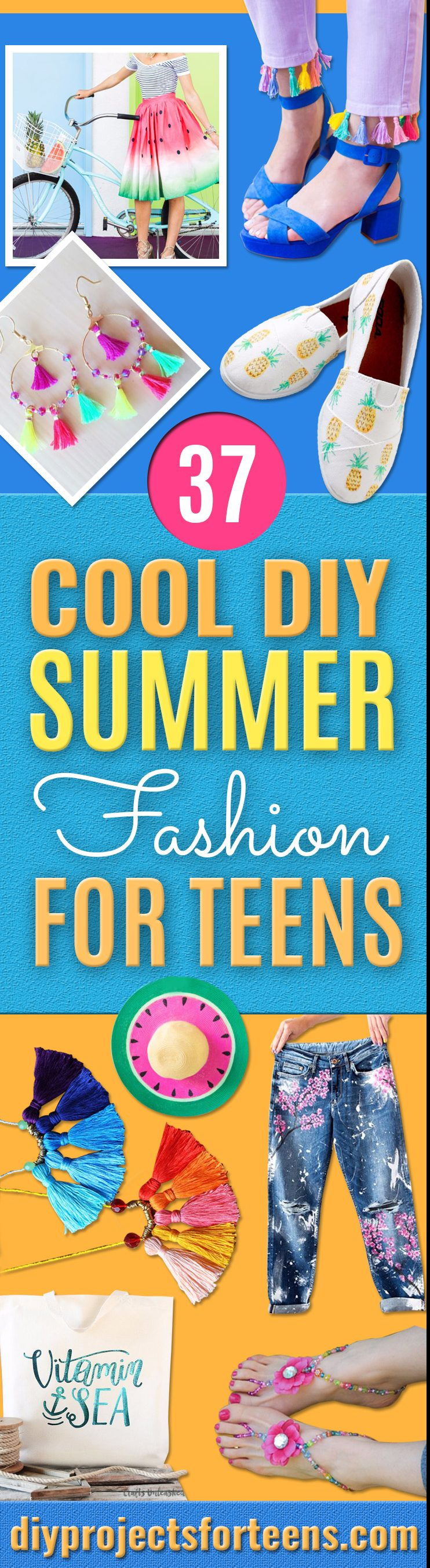 Cool Summer Fashions for Teens - Easy Sewing Projects and No Sew Crafts for Fun Fashion for Teenagers - DIY Clothes, Shoes and Accessories for Summertime Looks - Cheap and Creative Ways to Dress on A Budget