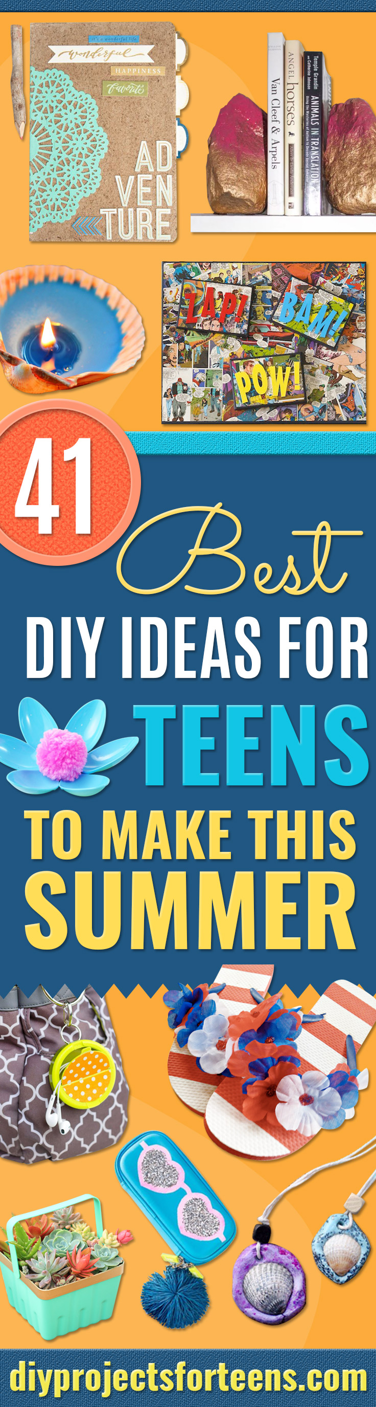 Best DIY Ideas for Teens To Make This Summer - Fun and Easy Crafts, Room Decor, Toys and Craft Projects to Make And Sell - Cool Gifts for Friends, Awesome Things To Do When You Are Bored - Teenagers - Boys and Girls Love Making These Creative Projects With Step by Step Tutorials and Instructions http://diyprojectsforteens.com/best-ideas-teens-summer