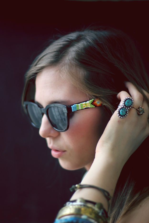 Cool Summer Fashions for Teens - DIY Beaded Sunglasses - Easy Sewing Projects and No Sew Crafts for Fun Fashion for Teenagers - DIY Clothes, Shoes and Accessories for Summertime Looks - Cheap and Creative Ways to Dress on A Budget http://diyprojectsforteens.com/diy-summer-fashion-teens