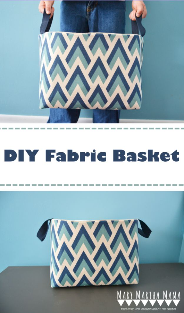 DIY Bags for Summer - DIY Fabric Basket - Easy Ideas to Make for Beach and Pool - Quick Projects for a Bag on A Budget - Cute No Sew Idea, Quick Sewing Patterns - Paint and Crafts for Making Creative Beach Bags - Fun Tutorials for Kids, Teens, Teenagers, Girls and Adults