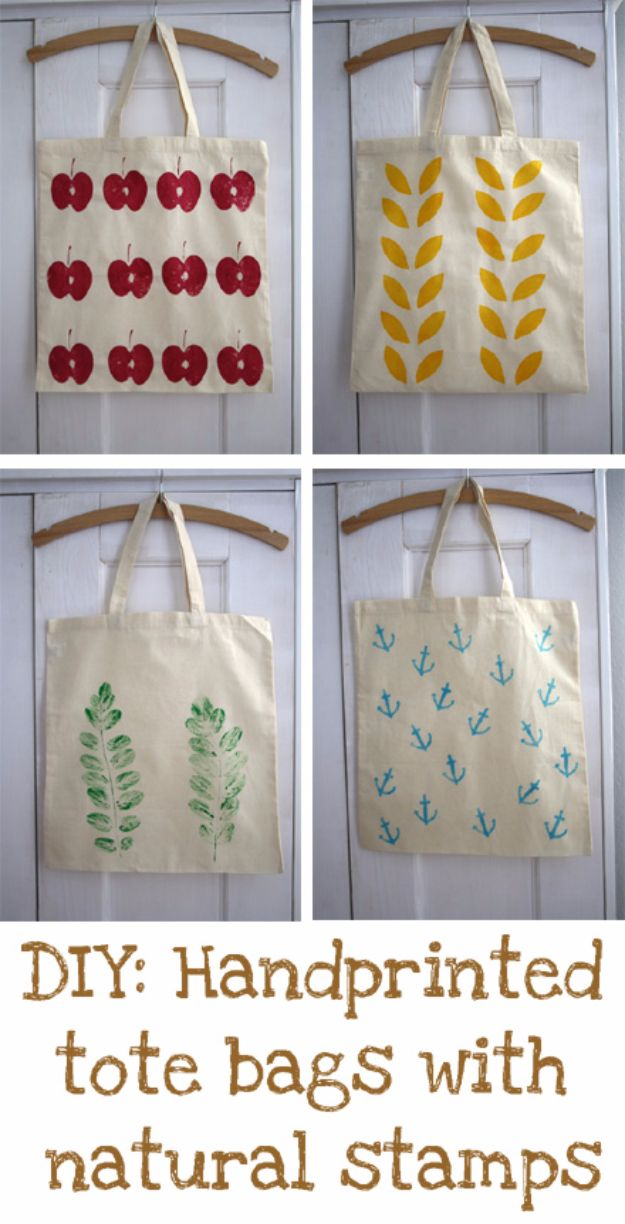 DIY Bags for Summer - DIY Handprinted Summer Tote Bags - Easy Ideas to Make for Beach and Pool - Quick Projects for a Bag on A Budget - Cute No Sew Idea, Quick Sewing Patterns - Paint and Crafts for Making Creative Beach Bags - Fun Tutorials for Kids, Teens, Teenagers, Girls and Adults