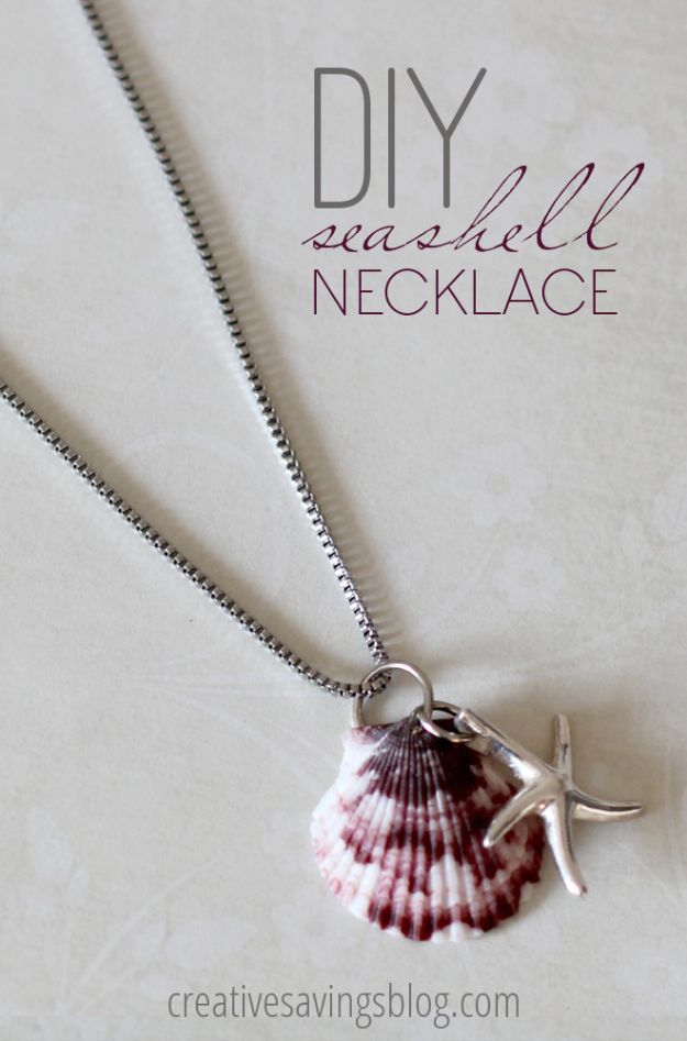Cool Summer Fashions for Teens - DIY Seashell Necklace - Easy Sewing Projects and No Sew Crafts for Fun Fashion for Teenagers - DIY Clothes, Shoes and Accessories for Summertime Looks - Cheap and Creative Ways to Dress on A Budget http://diyprojectsforteens.com/diy-summer-fashion-teens