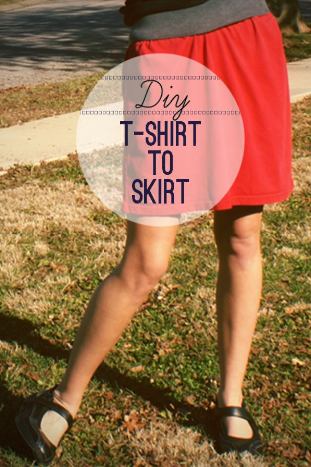 Cool Summer Fashions for Teens - DIY T-Shirt To Skirt - Easy Sewing Projects and No Sew Crafts for Fun Fashion for Teenagers - DIY Clothes, Shoes and Accessories for Summertime Looks - Cheap and Creative Ways to Dress on A Budget http://diyprojectsforteens.com/diy-summer-fashion-teens