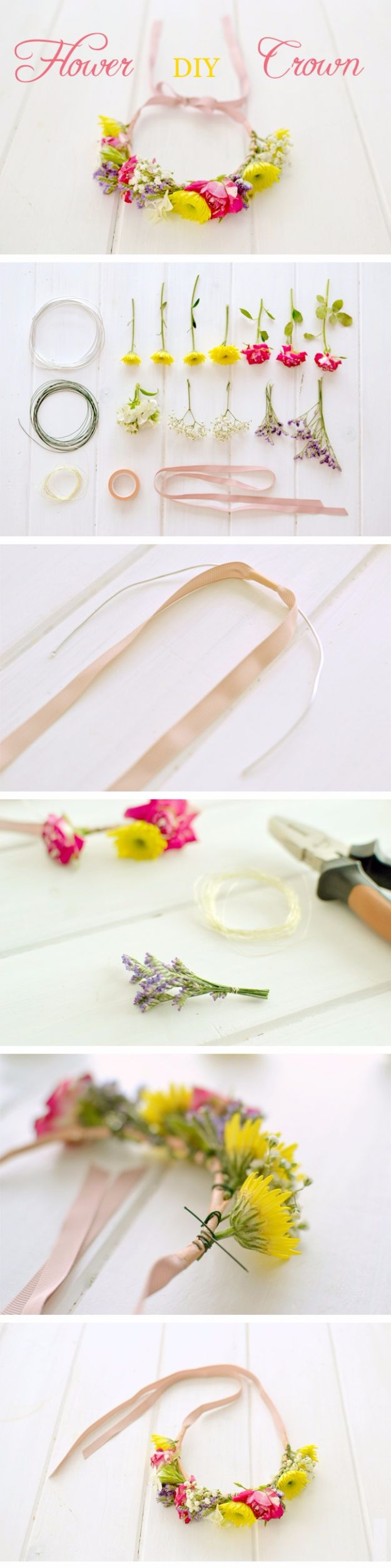 Cool Summer Fashions for Teens - Easy DIY Flower Crown - Easy Sewing Projects and No Sew Crafts for Fun Fashion for Teenagers - DIY Clothes, Shoes and Accessories for Summertime Looks - Cheap and Creative Ways to Dress on A Budget http://diyprojectsforteens.com/diy-summer-fashion-teens