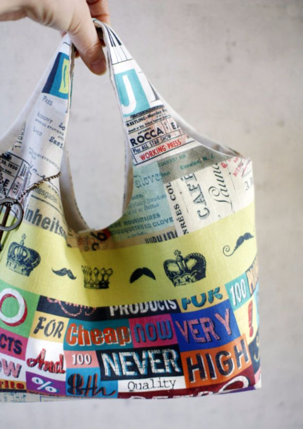 DIY Bags for Summer - Fabric Bag Hobo DIY - Easy Ideas to Make for Beach and Pool - Quick Projects for a Bag on A Budget - Cute No Sew Idea, Quick Sewing Patterns - Paint and Crafts for Making Creative Beach Bags - Fun Tutorials for Kids, Teens, Teenagers, Girls and Adults http://diyprojectsforteens.com/diy-bags-summer