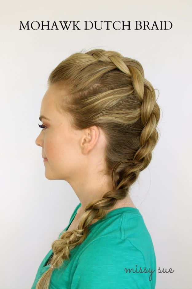 Cool Hair Tutorials for Summer - Mohawk Dutch Braid - Easy Hairstyles and Creative Looks for Hair - Beachy Waves, Hair Styles for Short Hair, Medium Length and Long Hair - Ponytails, Updo Ideas and Quick Last Minute Hairstyle for Teens, Teenagers and Women http://diyprojectsforteens.com/cool-hairstyles-summer