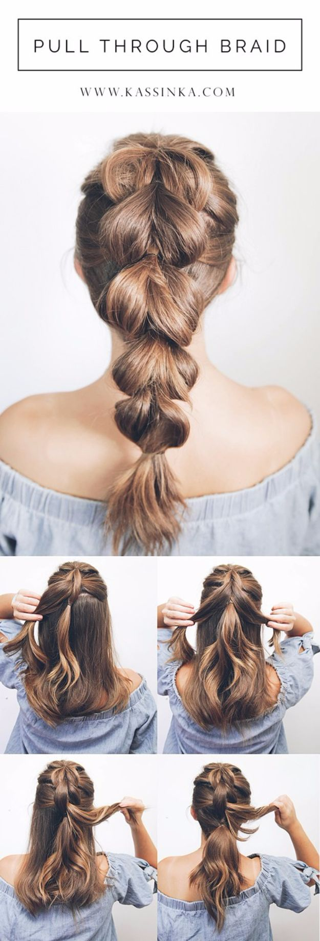 Cool Hair Tutorials for Summer - Pull Through Braid Tutorial - Easy Hairstyles and Creative Looks for Hair - Beachy Waves, Hair Styles for Short Hair, Medium Length and Long Hair - Ponytails, Updo Ideas and Quick Last Minute Hairstyle for Teens, Teenagers and Women http://diyprojectsforteens.com/cool-hairstyles-summer
