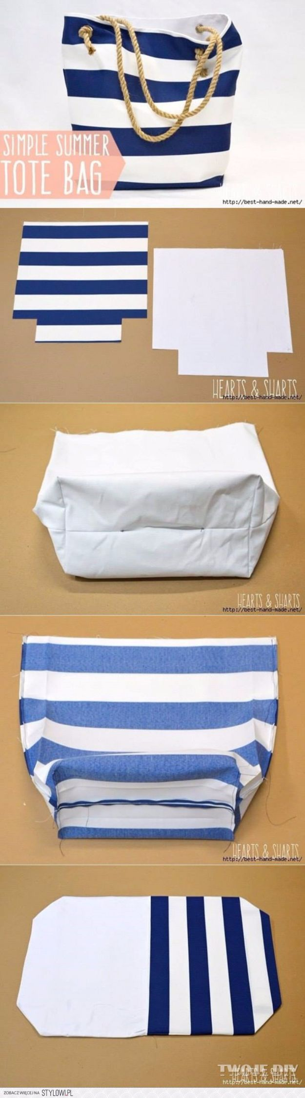 DIY Bags for Summer - Simple Summer Tote Bag - Easy Ideas to Make for Beach and Pool - Quick Projects for a Bag on A Budget - Cute No Sew Idea, Quick Sewing Patterns - Paint and Crafts for Making Creative Beach Bags - Fun Tutorials for Kids, Teens, Teenagers, Girls and Adults