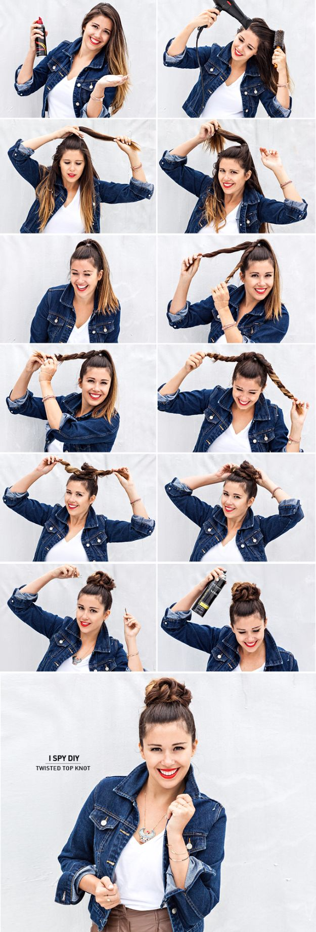 Cool Hair Tutorials for Summer - Twisted Top Knot - Easy Hairstyles and Creative Looks for Hair - Beachy Waves, Hair Styles for Short Hair, Medium Length and Long Hair - Ponytails, Updo Ideas and Quick Last Minute Hairstyle for Teens, Teenagers and Women http://diyprojectsforteens.com/cool-hairstyles-summer