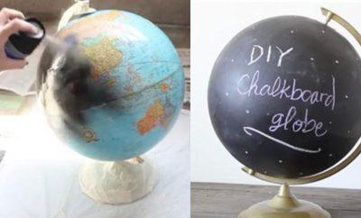 DIY Chalkboard Globe - How to Make A Chalkboard Globe - DIY Room Decor for Teens