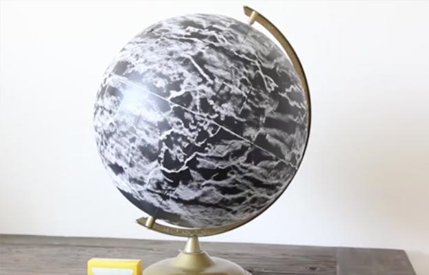 DIY Chalkboard Globe Instructions-Cool Room Decor For Teens-Cheap And Easy Crafts To Make And Sell-Cheap Bedroom Decor For Teenagers