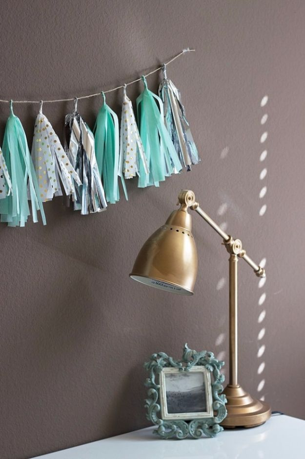 Cheap Crafts for Teens - DIY Tassel Garland - Inexpensive DIY Projects for Teenagers and Tweens - Cute Room Decor, School Supplies, Accessories and Clothing You Can Make On A Budget - Fun Dollar Store Crafts - Cool DIY Gift Ideas for Christmas, Birthdays, BFF gifts and more - Step by Step Tutorials and Instructions #cheapcrafts #dollarstorecrafts #teencrafts #dollartreecrafts