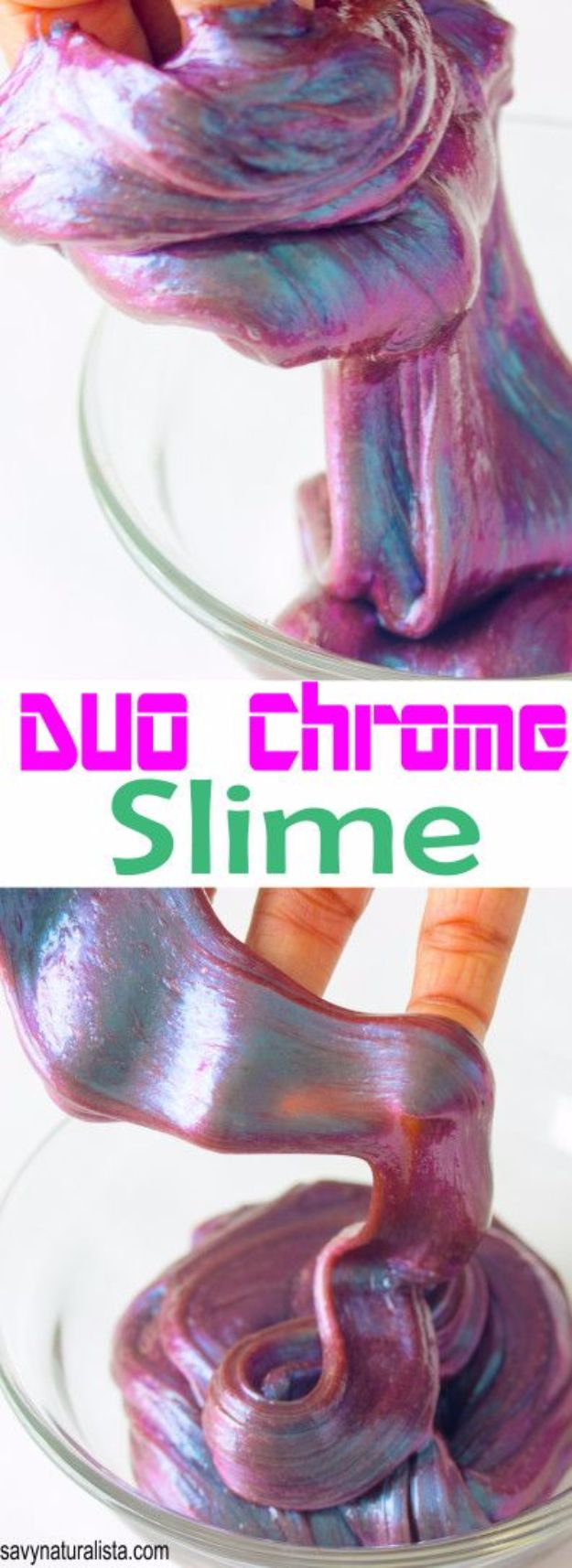 Best DIY Slime Recipes - Duo Chrome Slime - Cool and Easy Slime Recipe and Tutorials - Ideas Without Glue, Without Borax, For Kids, With Liquid Starch, Cornstarch and Laundry Detergent - How to Make Slime at Home - Fun Crafts and DIY Projects for Teens, Kids, Teenagers and Teens - Galaxy and Glitter Slime, Edible Slime, Rainbow Colored Slime, Shaving Cream recipes and more fun crafts and slimes http://diyprojectsforteens.com/diy-slime-recipe-ideas