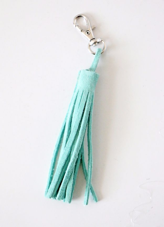 Cheap Crafts for Teens - Easy DIY Leather Tassel - Inexpensive DIY Projects for Teenagers and Tweens - Cute Room Decor, School Supplies, Accessories and Clothing You Can Make On A Budget - Fun Dollar Store Crafts - Cool DIY Gift Ideas for Christmas, Birthdays, BFF gifts and more - Step by Step Tutorials and Instructions #cheapcrafts #dollarstorecrafts #teencrafts #dollartreecrafts