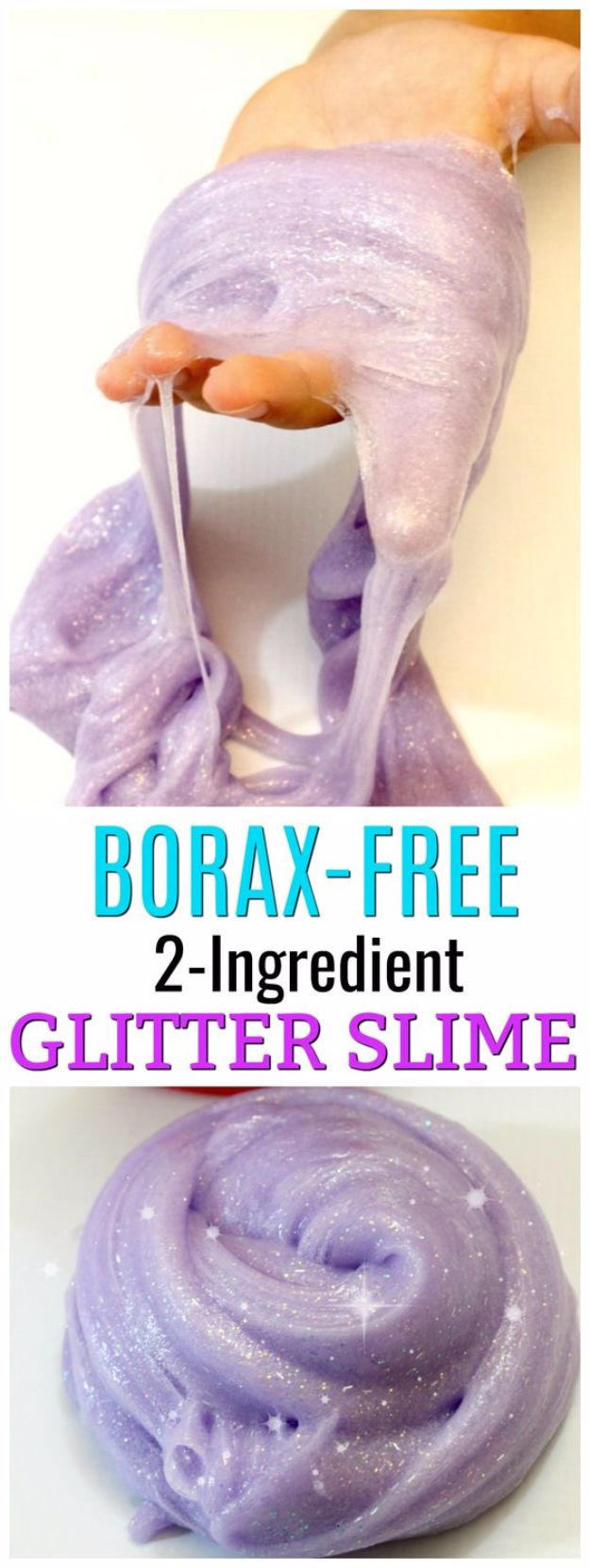 Best DIY Slime Recipes - Easy Glitter Slime With No Borax - Cool and Easy Slime Recipe and Tutorials - Ideas Without Glue, Without Borax, For Kids, With Liquid Starch, Cornstarch and Laundry Detergent - How to Make Slime at Home - Fun Crafts and DIY Projects for Teens, Kids, Teenagers and Teens - Galaxy and Glitter Slime, Edible Slime, Rainbow Colored Slime, Shaving Cream recipes and more fun crafts and slimes http://diyprojectsforteens.com/diy-slime-recipe-ideas
