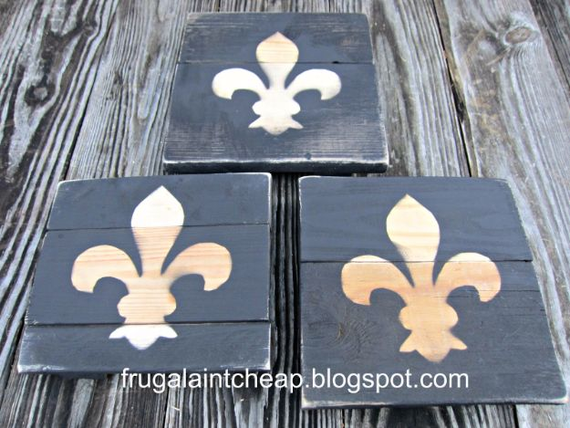Cheap Crafts for Teens - Fleur De Lis Wooden Trivet - Inexpensive DIY Projects for Teenagers and Tweens - Cute Room Decor, School Supplies, Accessories and Clothing You Can Make On A Budget - Fun Dollar Store Crafts - Cool DIY Gift Ideas for Christmas, Birthdays, BFF gifts and more - Step by Step Tutorials and Instructions #cheapcrafts #dollarstorecrafts #teencrafts #dollartreecrafts