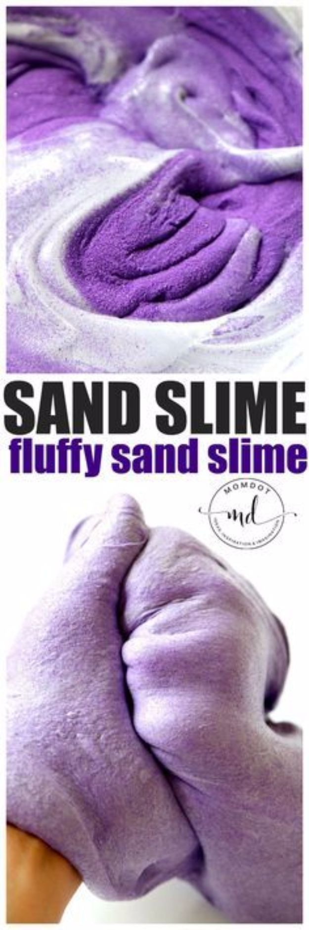 Best DIY Slime Recipes -Fluffy Sand Slime - Cool and Easy Slime Recipe and Tutorials - Ideas Without Glue, Without Borax, For Kids, With Liquid Starch, Cornstarch and Laundry Detergent - How to Make Slime at Home - Fun Crafts and DIY Projects for Teens, Kids, Teenagers and Teens - Galaxy and Glitter Slime, Edible Slime, Rainbow Colored Slime, Shaving Cream recipes and more fun crafts and slimes #slimerecipes #slime #diyslime #teencrafts
