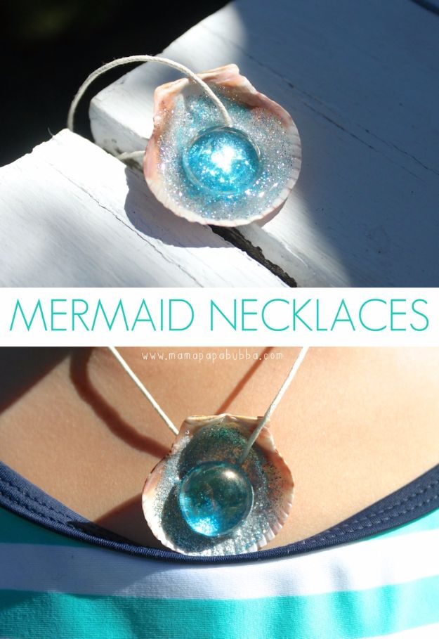 Cheap Crafts for Teens - Mermaid Necklaces - Inexpensive DIY Projects for Teenagers and Tweens - Cute Room Decor, School Supplies, Accessories and Clothing You Can Make On A Budget - Fun Dollar Store Crafts - Cool DIY Gift Ideas for Christmas, Birthdays, BFF gifts and more - Step by Step Tutorials and Instructions #cheapcrafts #dollarstorecrafts #teencrafts #dollartreecrafts