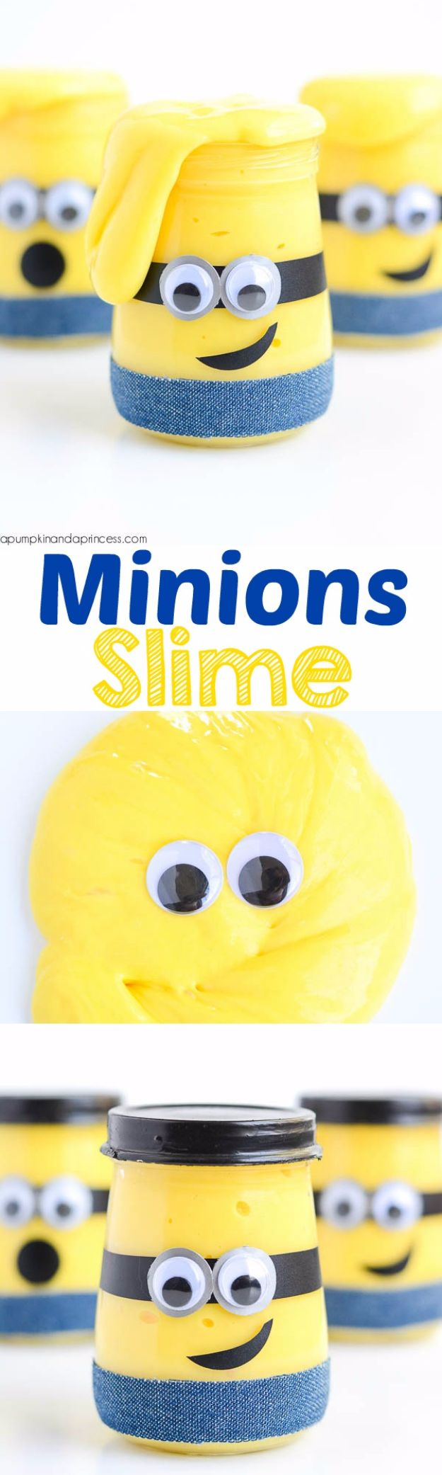 Best DIY Slime Recipes - Minions Slime - Cool and Easy Slime Recipe and Tutorials - Ideas Without Glue, Without Borax, For Kids, With Liquid Starch, Cornstarch and Laundry Detergent - How to Make Slime at Home - Fun Crafts and DIY Projects for Teens, Kids, Teenagers and Teens - Galaxy and Glitter Slime, Edible Slime, Rainbow Colored Slime, Shaving Cream recipes and more fun crafts and slimes #slimerecipes #slime #diyslime #teencrafts