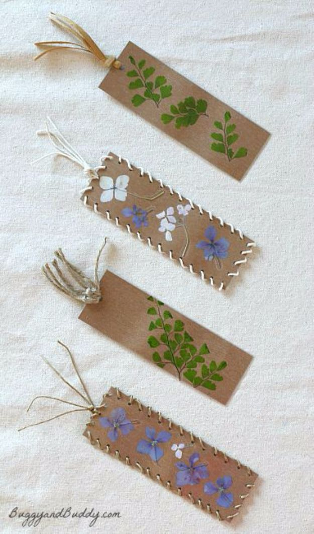 Cheap Crafts for Teens - Pressed Flower Bookmark - Inexpensive DIY Projects for Teenagers and Tweens - Cute Room Decor, School Supplies, Accessories and Clothing You Can Make On A Budget - Fun Dollar Store Crafts - Cool DIY Gift Ideas for Christmas, Birthdays, BFF gifts and more - Step by Step Tutorials and Instructions #cheapcrafts #dollarstorecrafts #teencrafts #dollartreecrafts