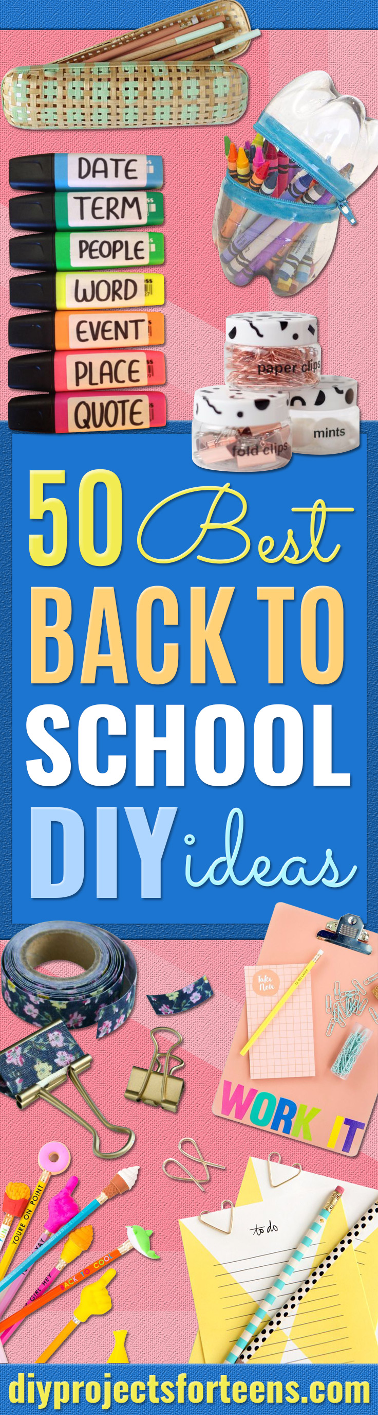 50 best back to school diy ideasg diy school supplies easy crafts and do it yourself ideas for back to school solutioingenieria Image collections