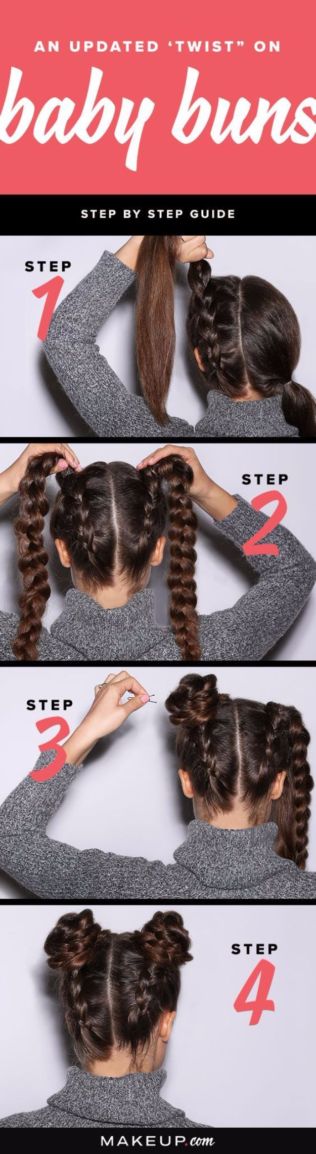 Easy Braids With Tutorials - Braided Baby Buns - Cute Braiding Tutorials for Teens, Girls and Women - Easy Step by Step Braid Ideas - Quick Hairstyles for School - Creative Braids for Teenagers - Tutorial and Instructions for Hair Braiding http://diyprojectsforteens.com/easy-braids-tutorials