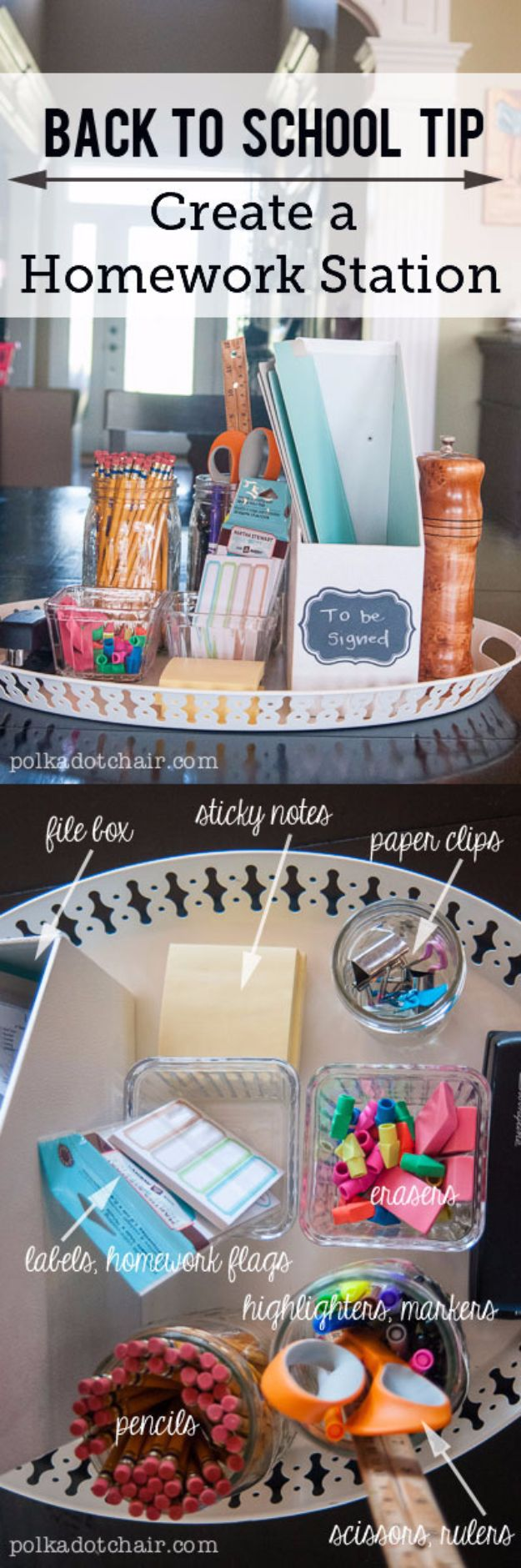 DIY School Supplies - Create A Homework Station - Easy Crafts and Do It Yourself Ideas for Back To School - Pencils, Notebooks, Backpacks and Fun Gear for Going Back To Class - Creative DIY Projects for Cheap School Supplies - Cute Crafts for Teens and Kids http://diyprojectsforteens.com/diy-back-to-school-supplies